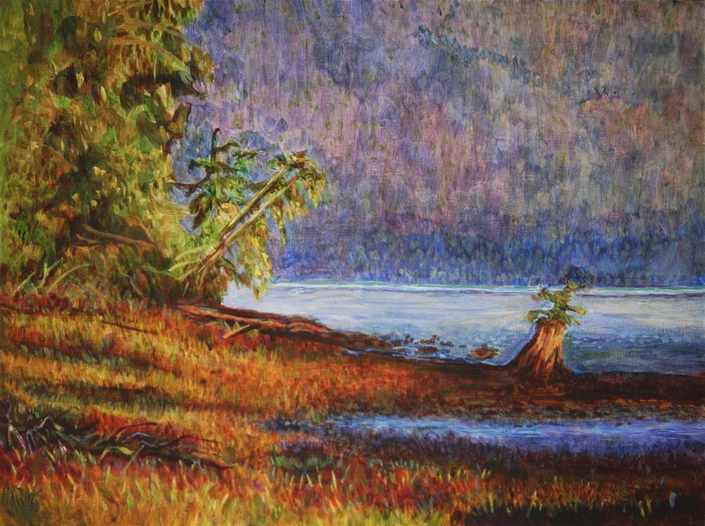 """""""Sunset Near Cassiar Cannery"""" original fine art by Terri-Anne Barge"""