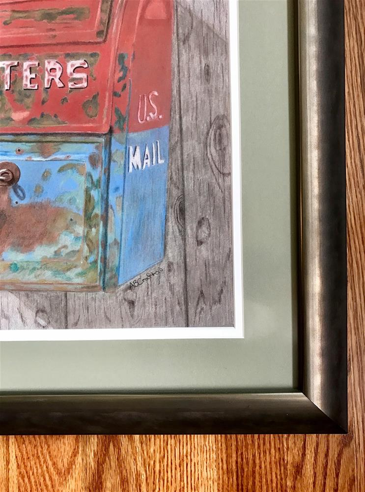 """""""Mail Call (matted and framed)"""" original fine art by Arlene Crafton"""