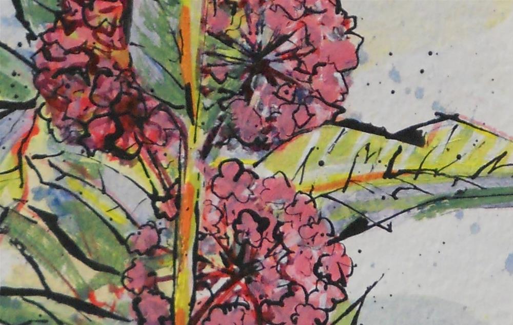 """""""Milkweed Floral by Larry Lerew 130708"""" original fine art by Larry Lerew"""