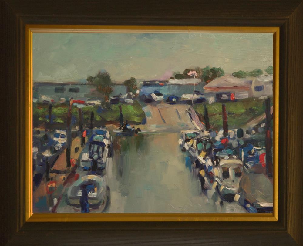 """""""'Littlehampton Marina'"""" original fine art by Andre Pallat"""