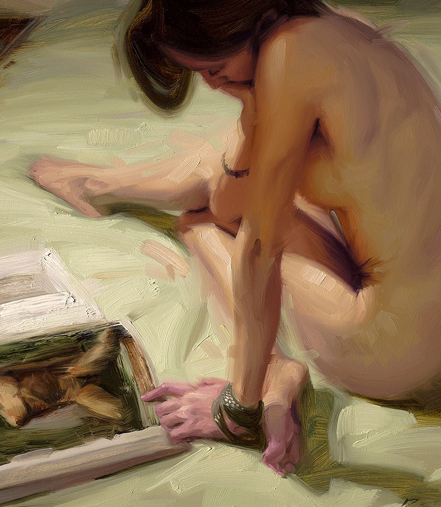 """Fond of Form"" original fine art by Rob  Rey"