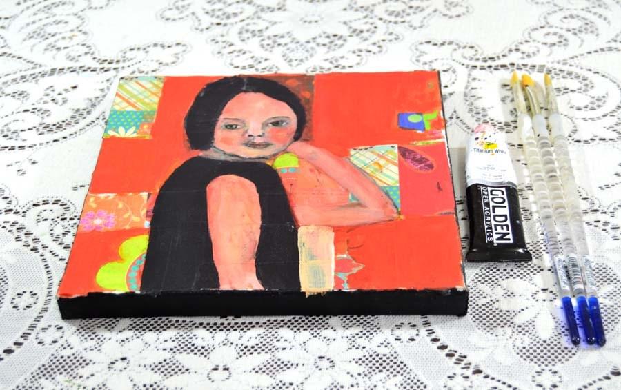 """Fluffing"" original fine art by Katie Jeanne Wood"