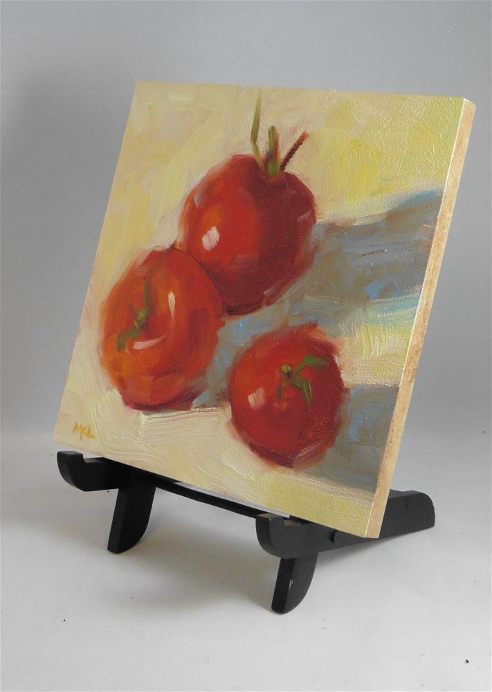 """Hudson's Tomatoes"" original fine art by Marlene Lee"