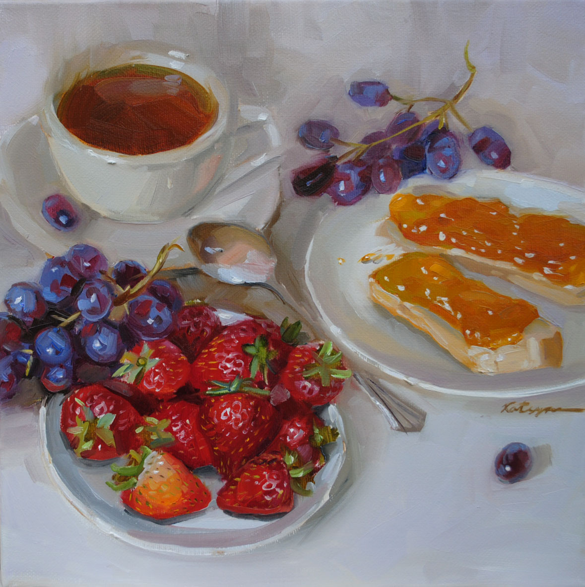 """Royal Tea"" original fine art by Elena Katsyura"