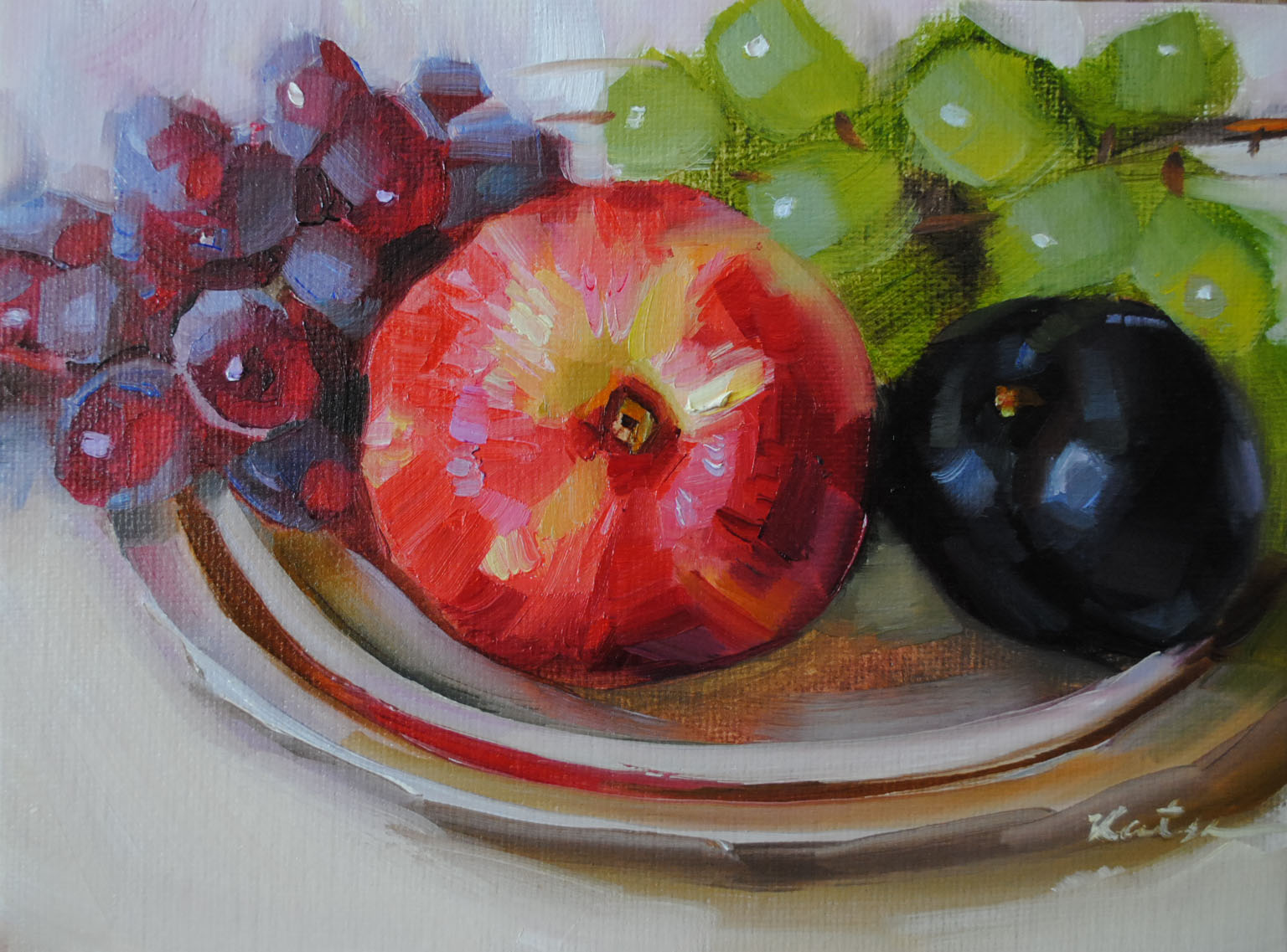 """Fruit Mix"" original fine art by Elena Katsyura"