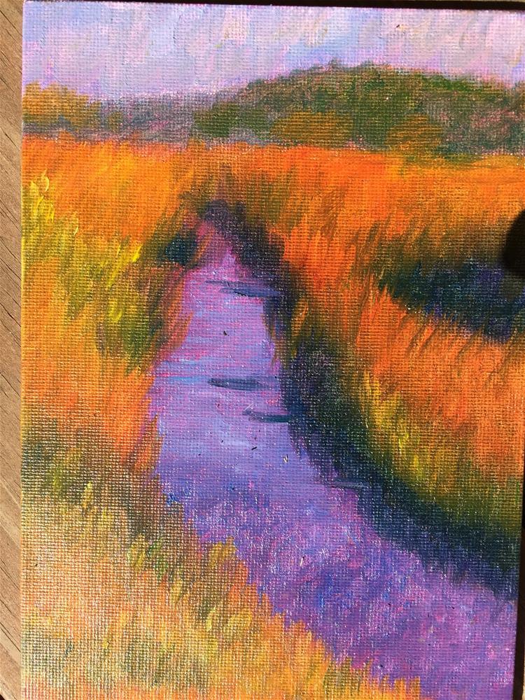 """The little creek "" original fine art by Jiani Shan"