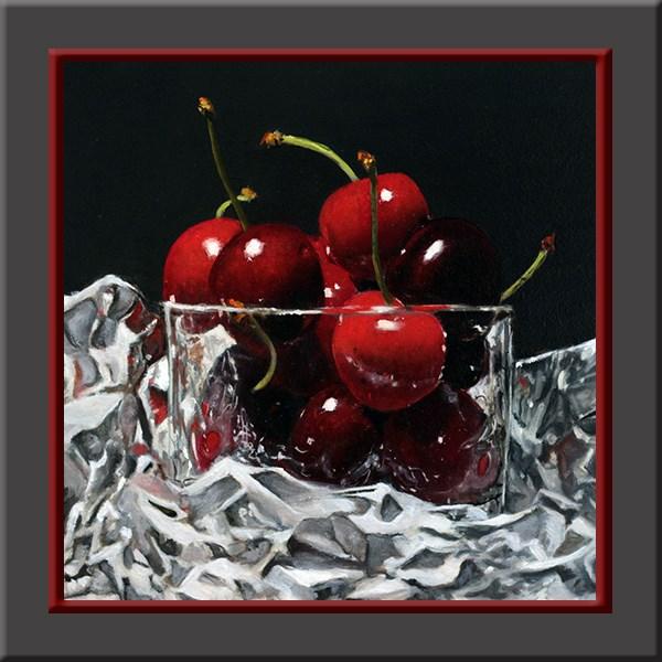 """""""The cherries"""" original fine art by Arthur Gaida"""