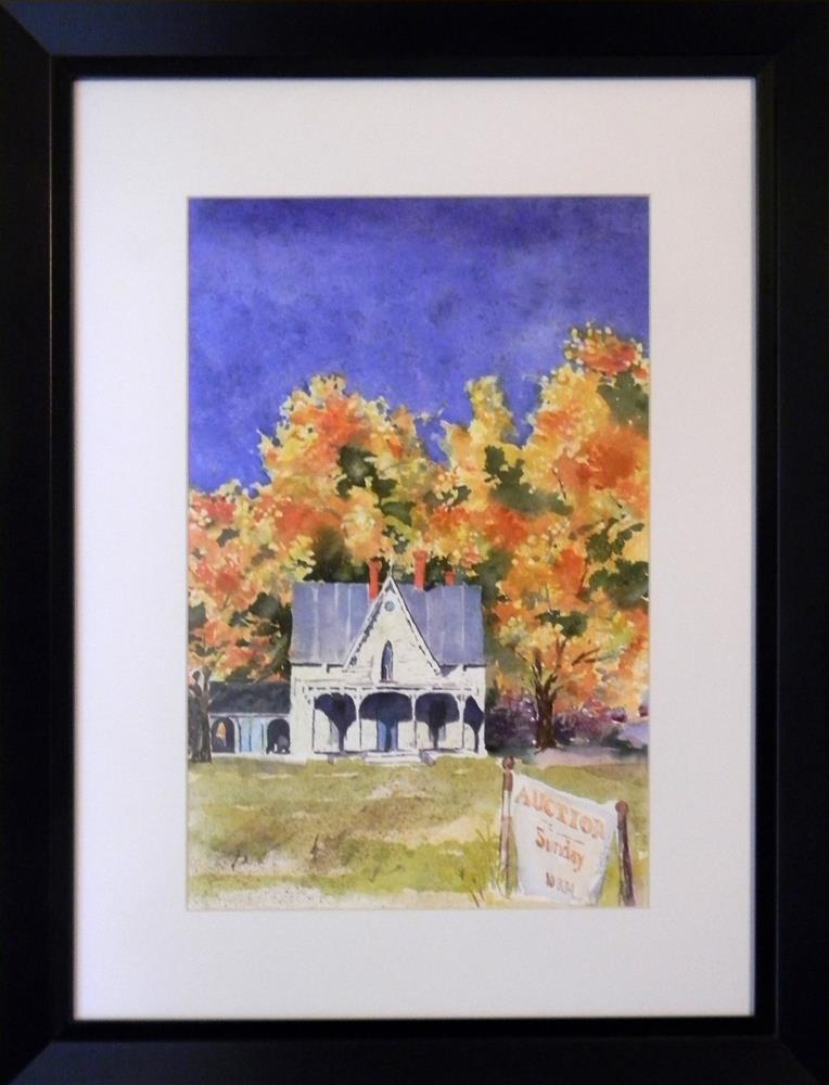 """Auction Sunday"" original fine art by De Selby"