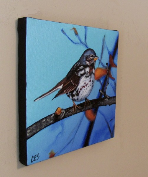 """Fox Sparrow"" original fine art by ~ces~ Christine E. S. Code"