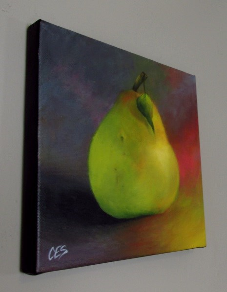 """Happy Pear"" original fine art by ~ces~ Christine E. S. Code"