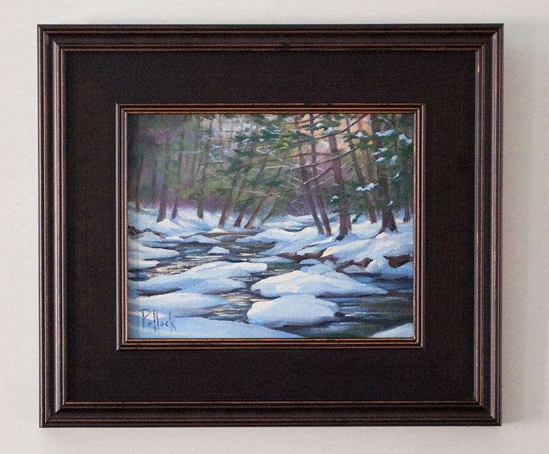 """Study, Snowcapped Stream"" original fine art by Sarah Pollock"
