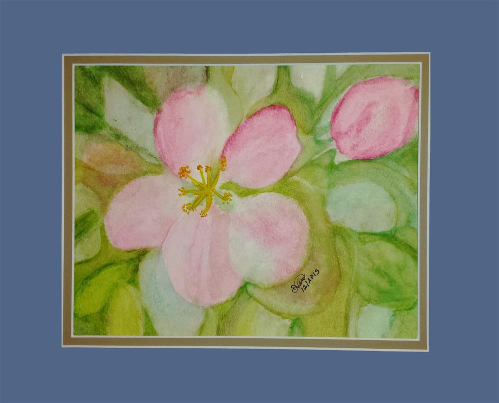 """""""Apple Blossom I"""" original fine art by Donna Vieth"""