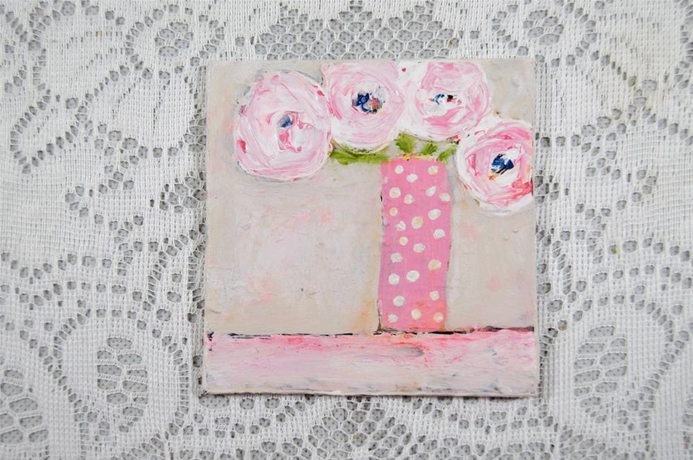 """Flower Painting No 85"" original fine art by Katie Jeanne Wood"