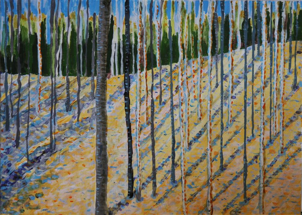 """Aspen Grove in Winter"" original fine art by Terri-Anne Barge"