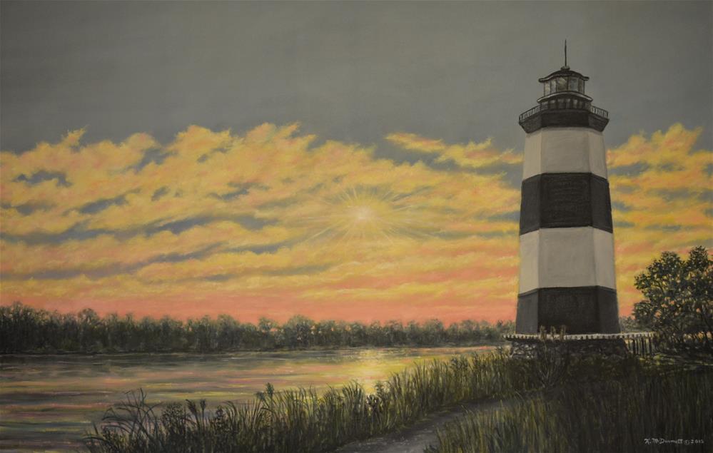 """""""Little River Light # 3"""" original fine art by Kathleen McDermott"""