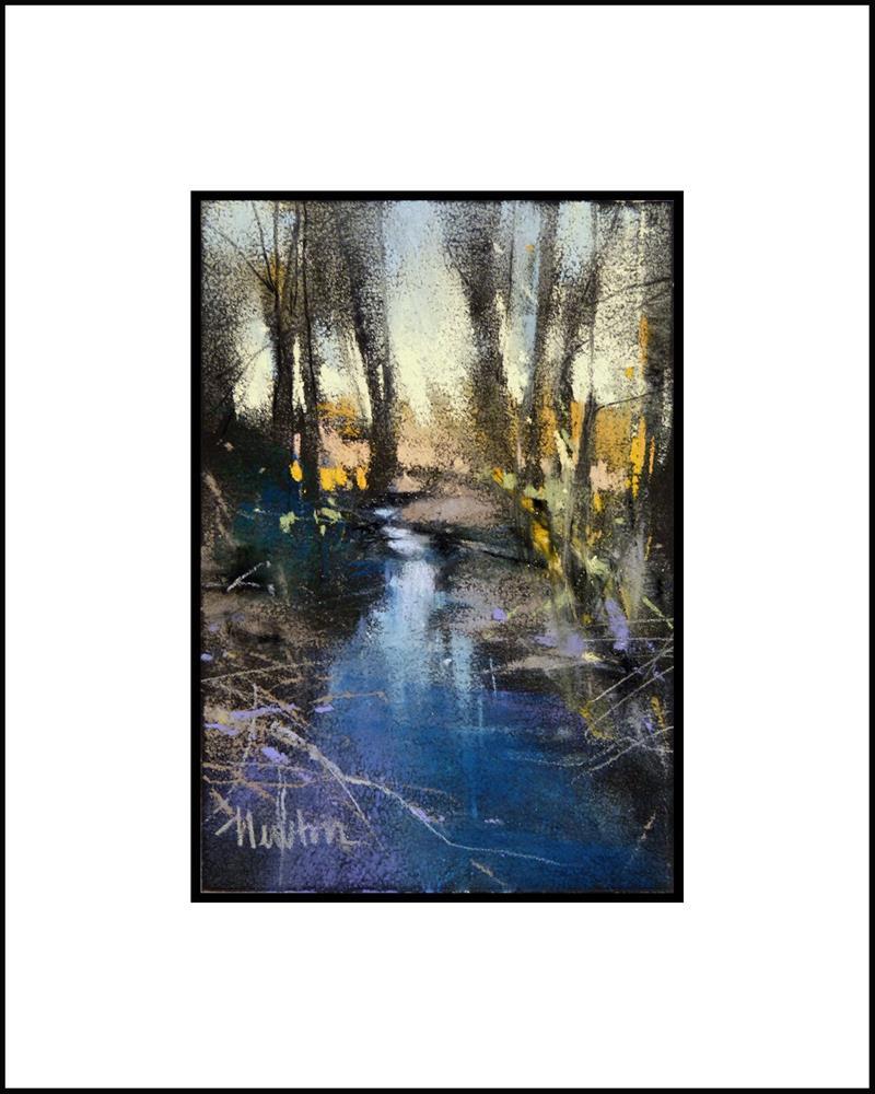 """""""Winter Creek"""" original fine art by Barbara Benedetti Newton"""