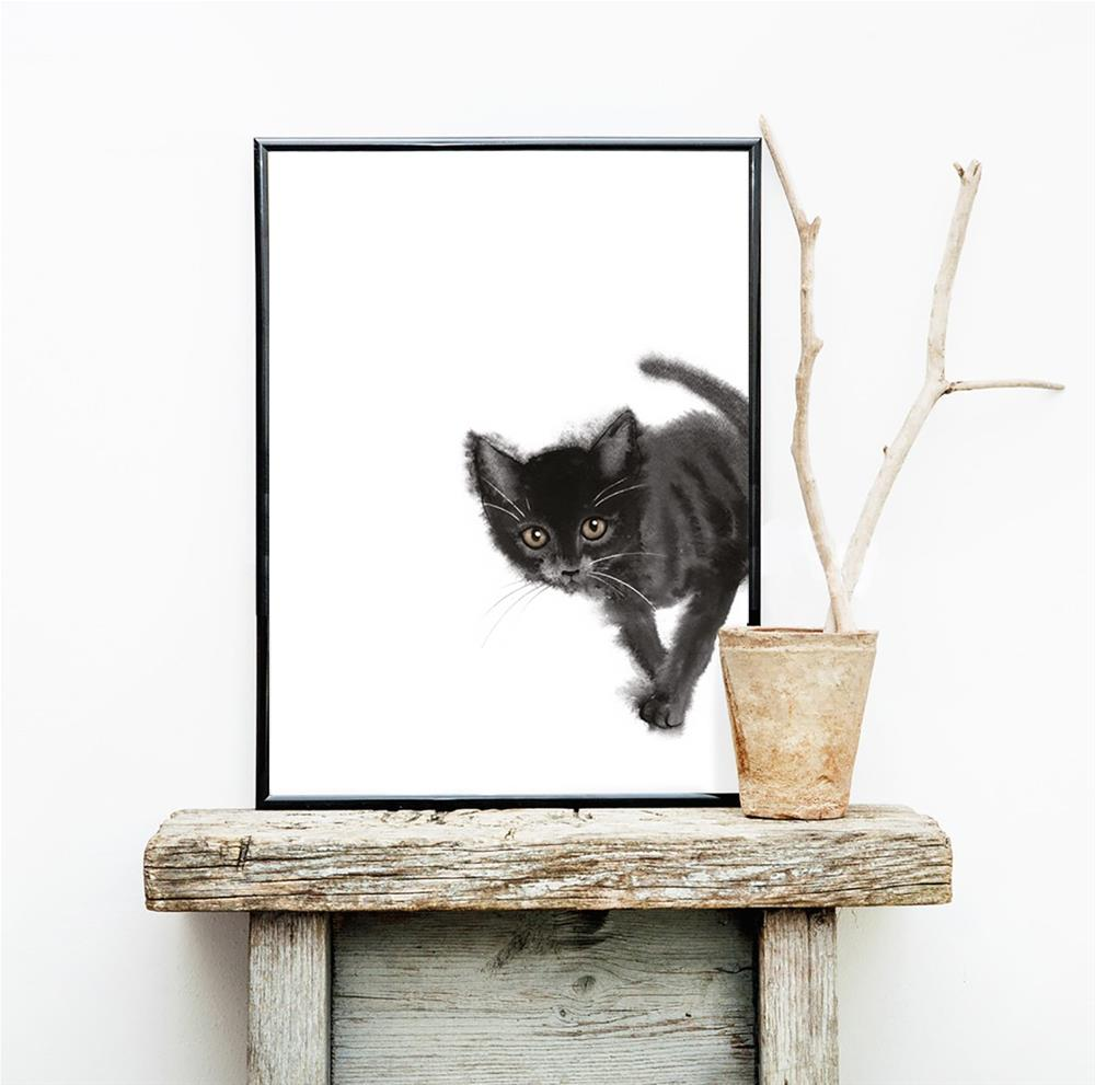 """Touching Kitten"" original fine art by Olga Beliaeva"