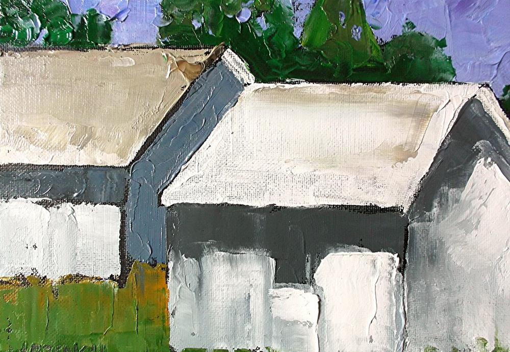 """California Summer Barns"" original fine art by lynne french"
