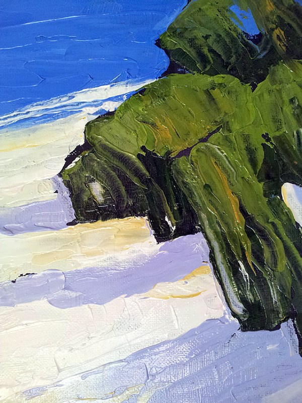 """Monterey Bay Dunes"" original fine art by lynne french"