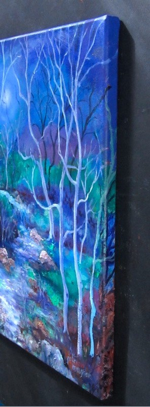 """Nocturne in Blue"" original fine art by Patricia Musgrave"