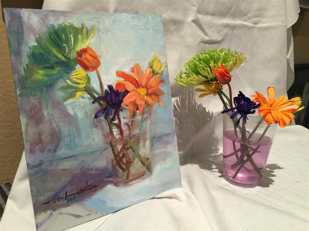 """Daisies"" original fine art by Ann Buenaventura"