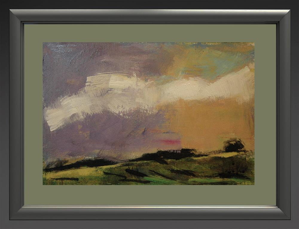 """White Clouds, Purple and Yellow Sky"" original fine art by Andre Pallat"