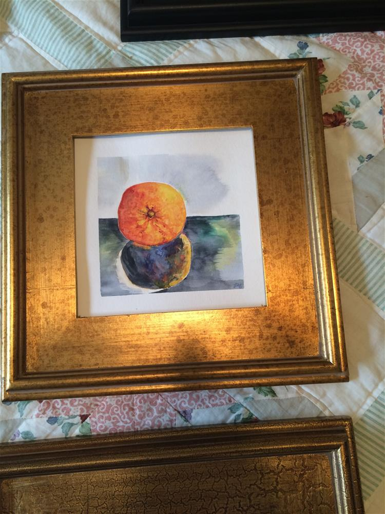 """Orange Reflection"" original fine art by Laura Denning"