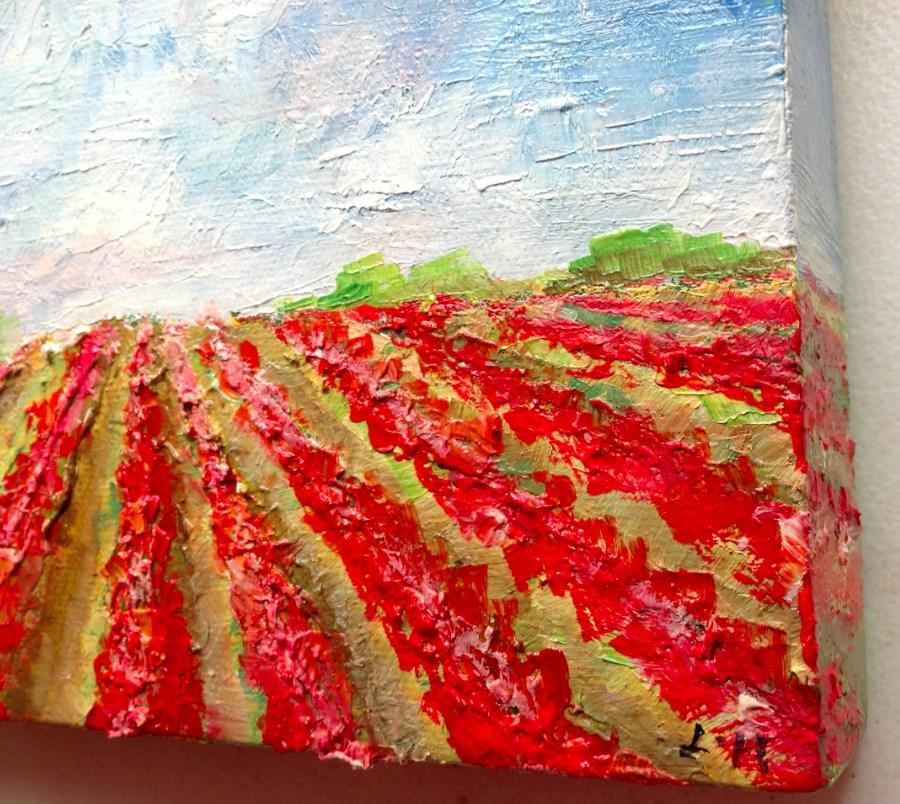 """Summer Field"" original fine art by Hui (Hue) Li"