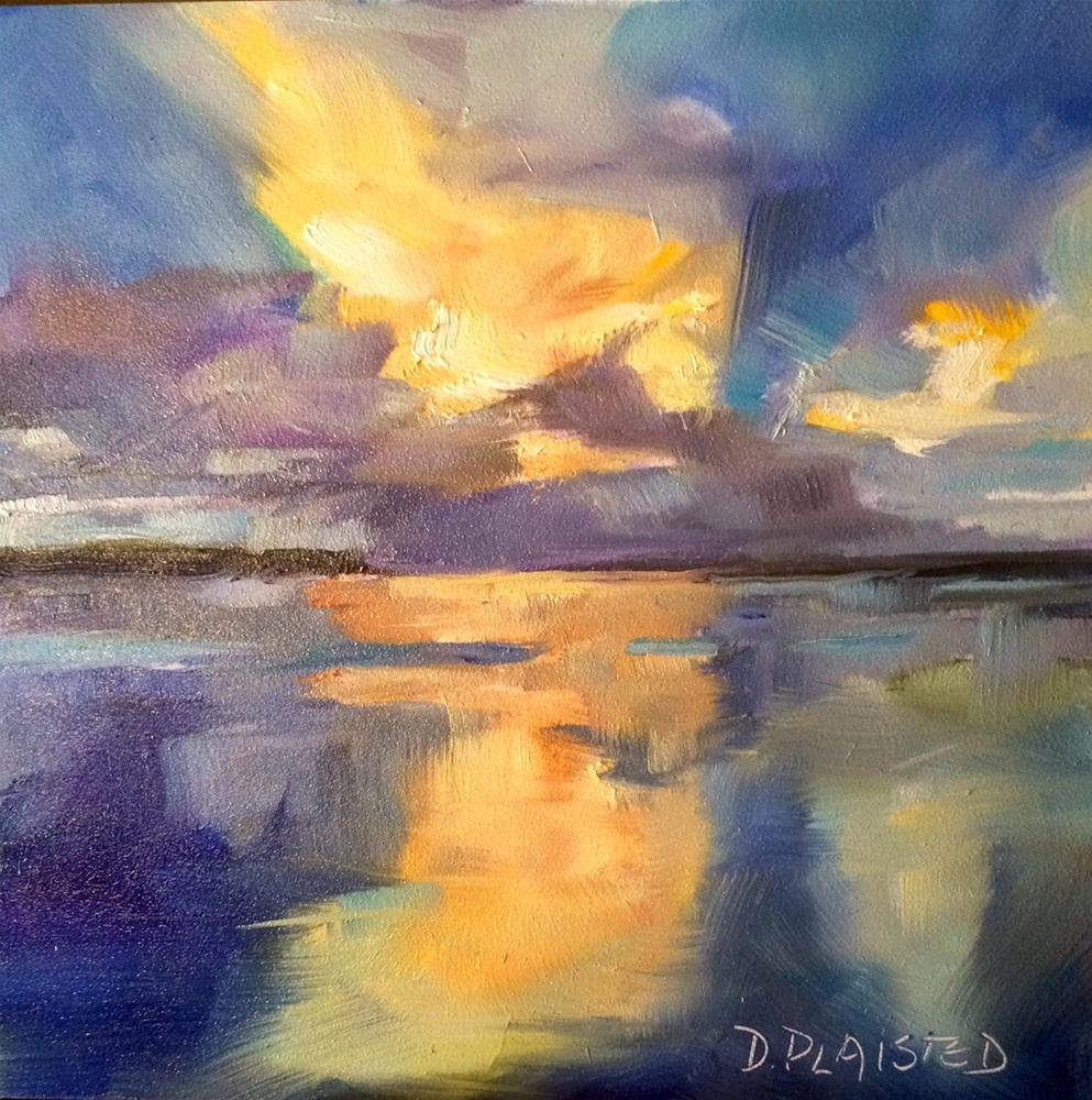 """Stormy Sunset"" original fine art by Diane Plaisted"