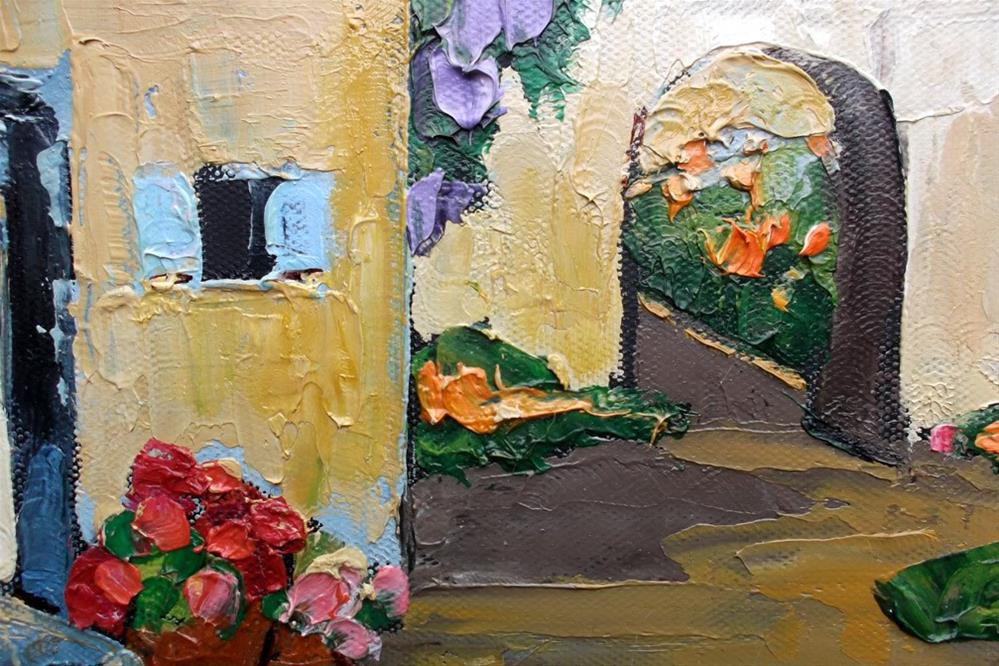 """Provence Courtyard Houses"" original fine art by lynne french"
