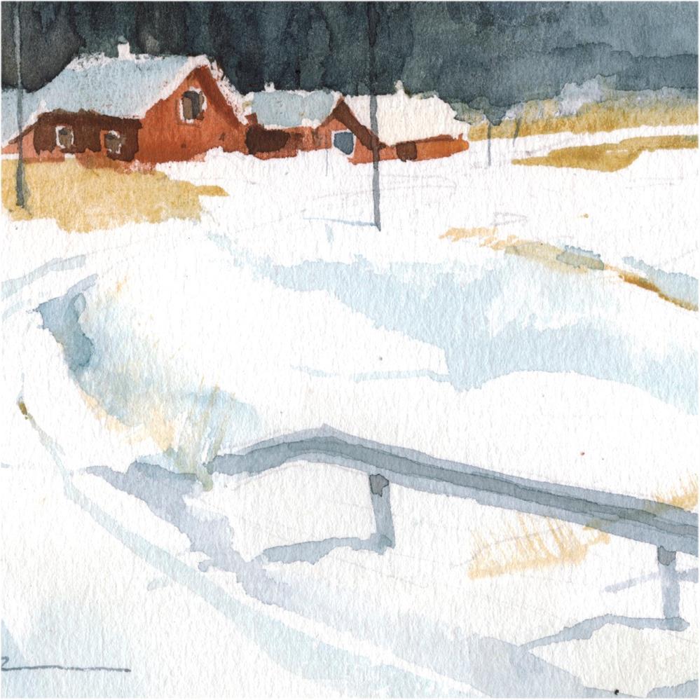 """""""snowy 18"""" original fine art by Emilio López"""
