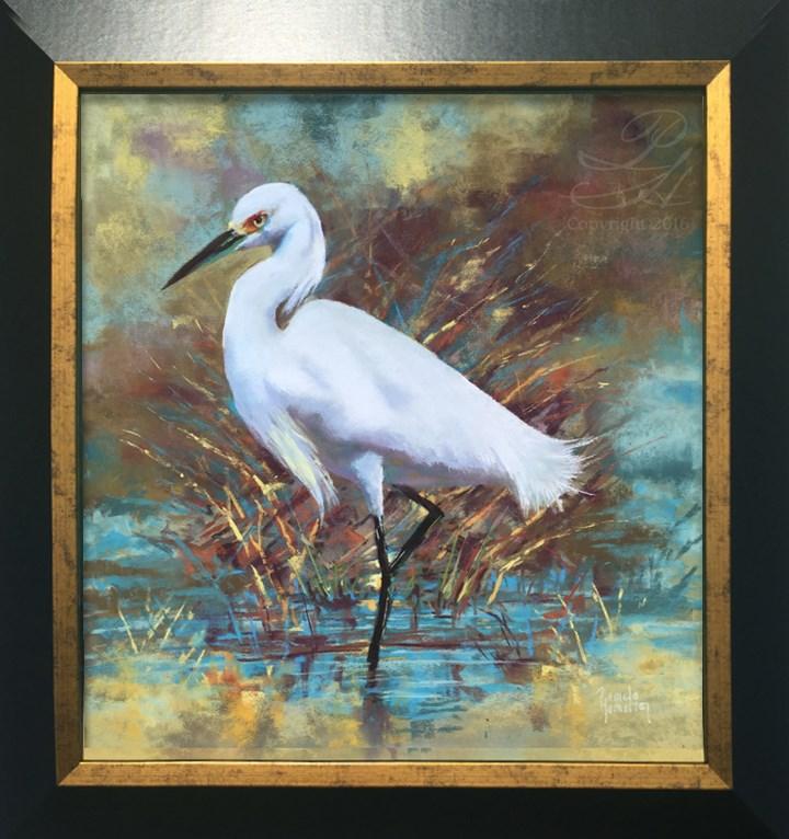 """Egret"" original fine art by Pamela Hamilton"