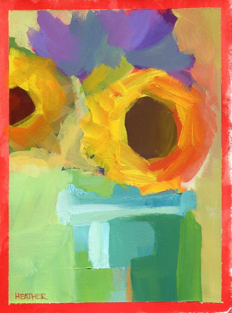 """""""Rehearsal"""" original fine art by Heather Bennett"""