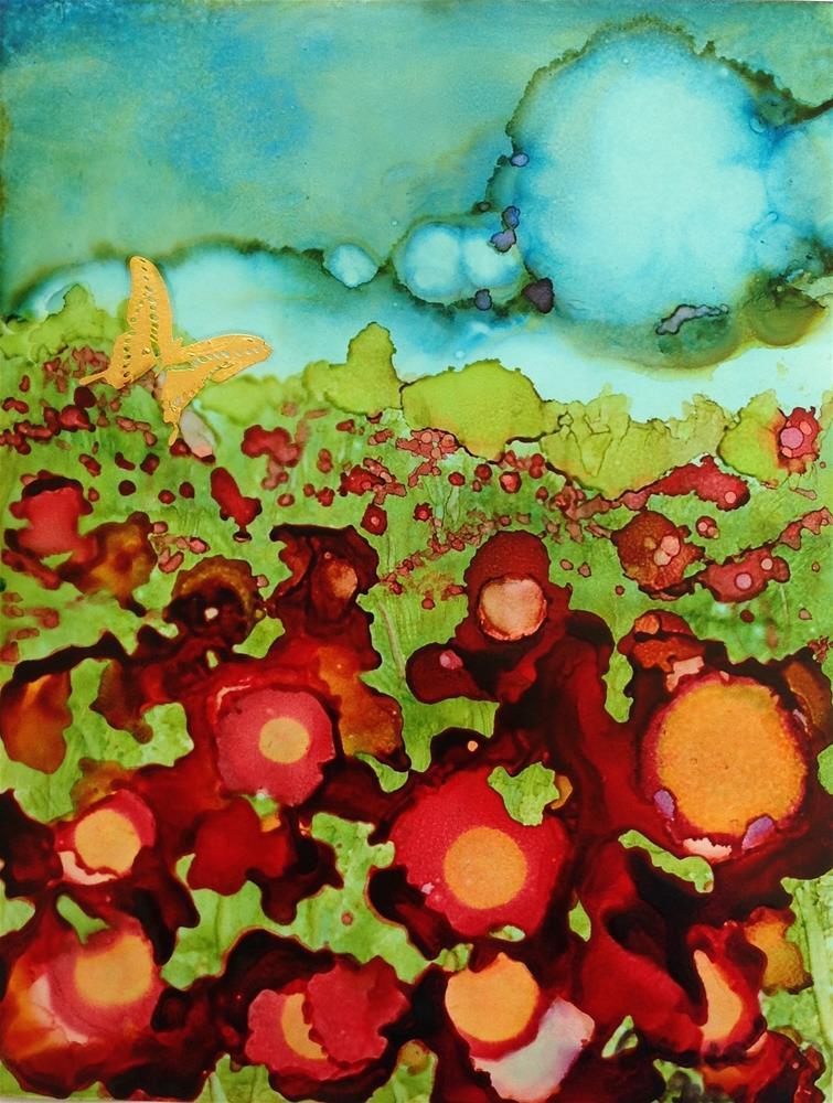"""Butterfly Sky"" original fine art by Anna Penny"
