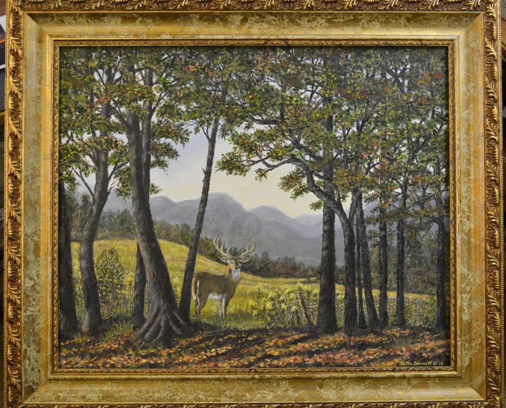 """Mountain Buck"" original fine art by Kathleen McDermott"