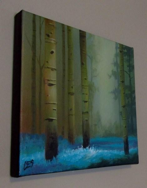 """Birch and Bluebells"" original fine art by ~ces~ Christine E. S. Code"