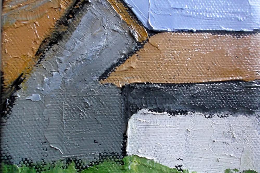 """""""Miniature Santa Cruz Barns"""" original fine art by lynne french"""