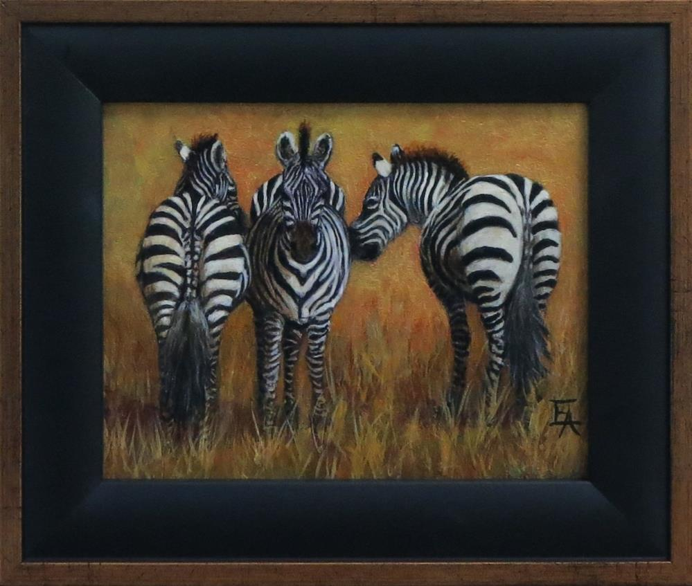 """We Three Zebras"" original fine art by Elizabeth Elgin"