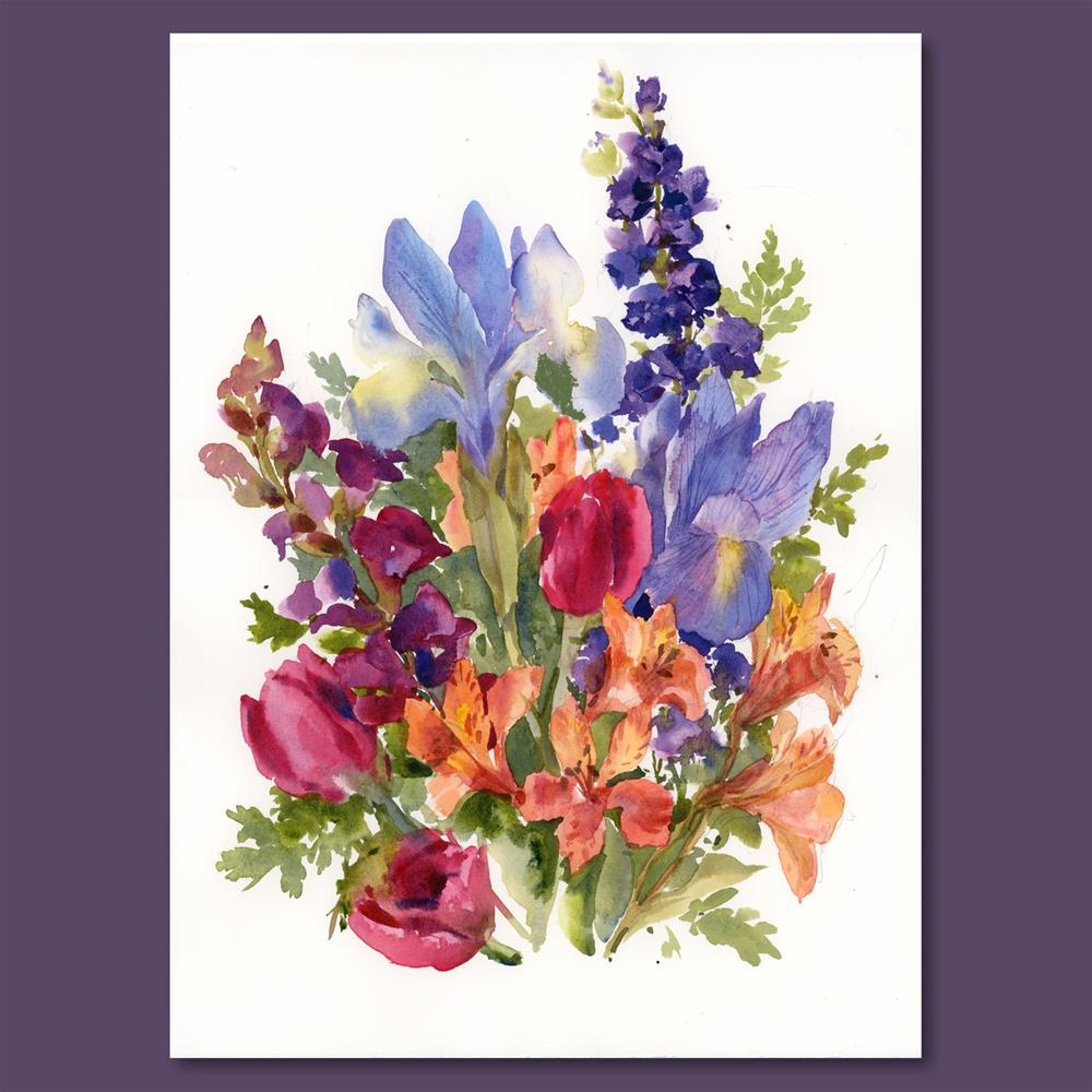 """May Flowers"" original fine art by Linda Henry"