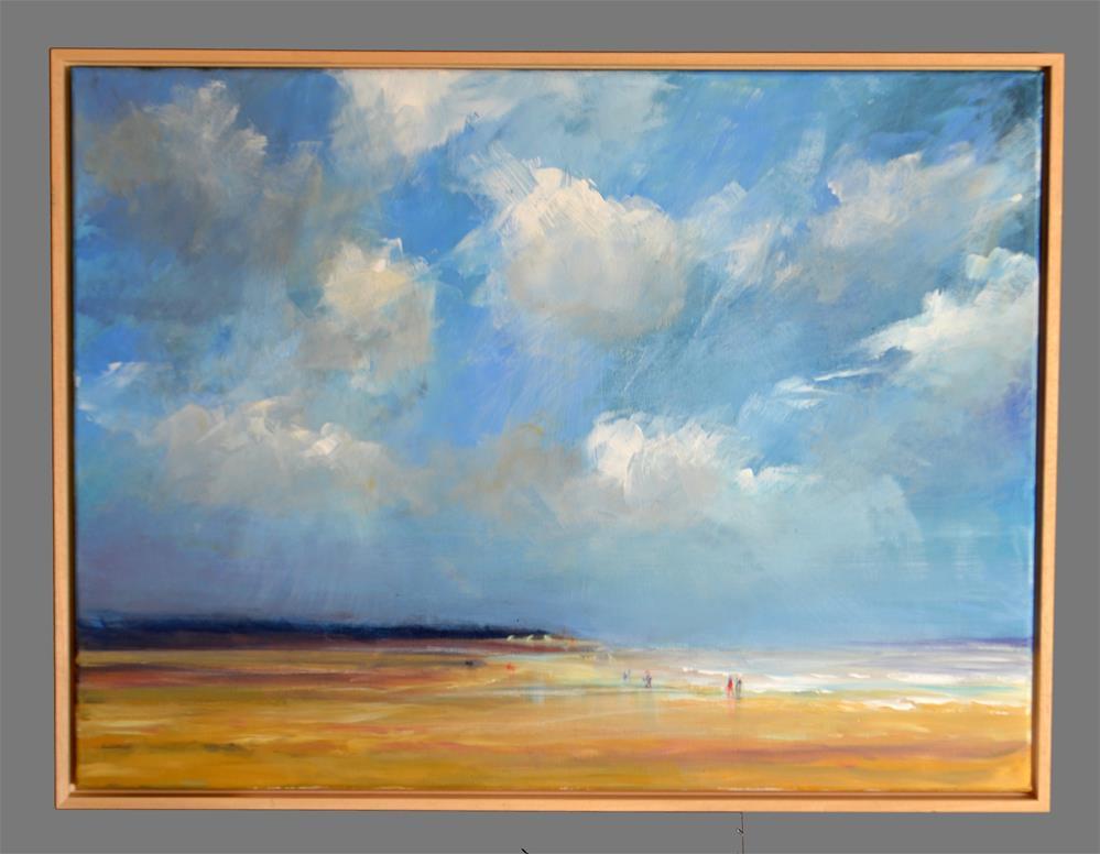 """""""May beach Vrouwenpolder"""" original fine art by Wim Van De Wege"""