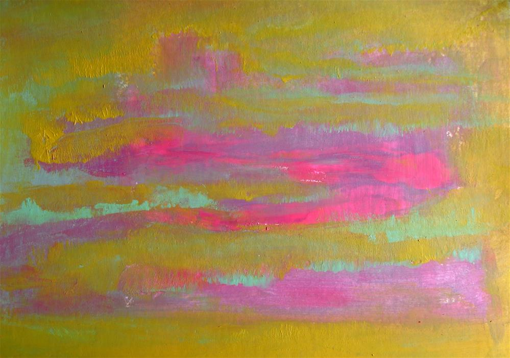 """Pink Ochre Abstract"" original fine art by Alina Frent"