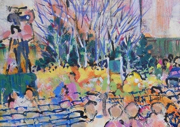 """Garden and Flower Show by Larry Lerew 120301"" original fine art by Larry Lerew"