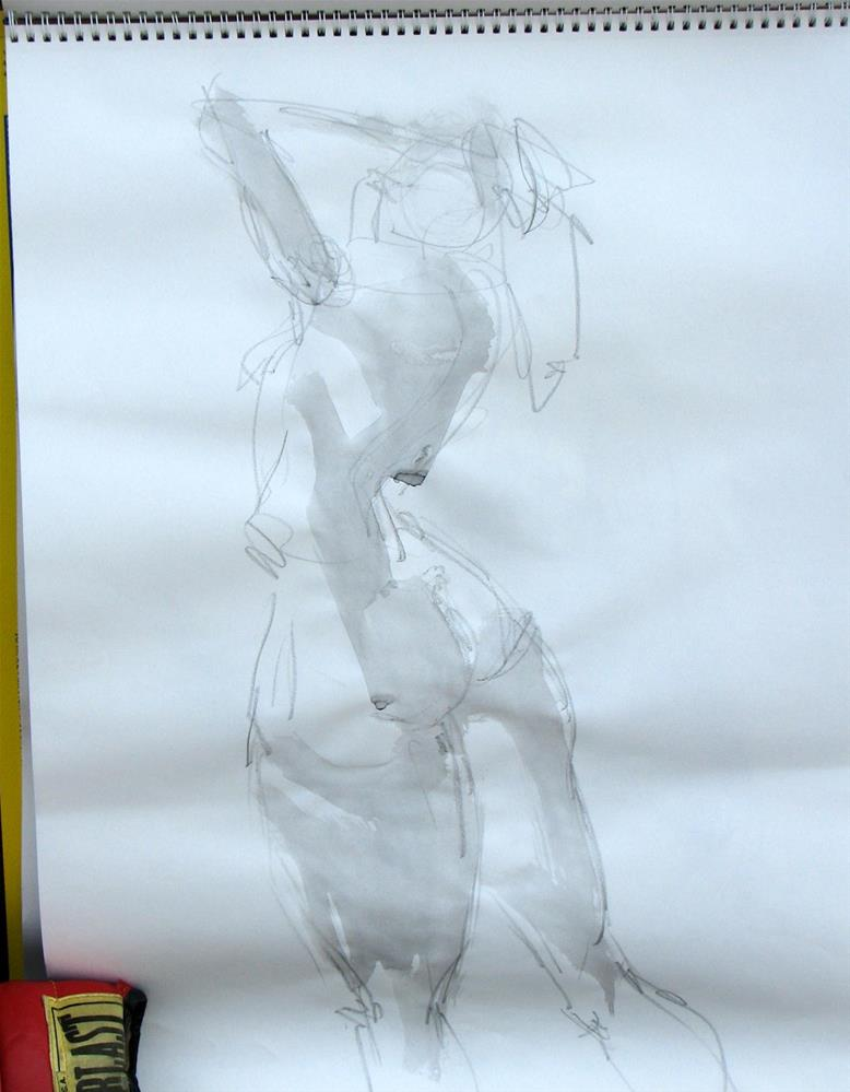 """gesture drawings"" original fine art by jeffrey kasbohm"