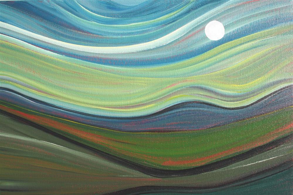 """""""Hill Country - Moon on the Wind"""" original fine art by Sage Mountain"""