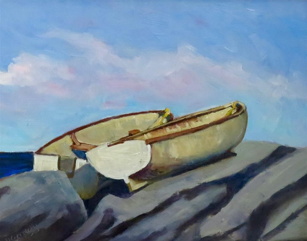 """Little Boats 1"" original fine art by Deborah Czernecky"