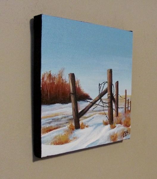 """Saskatchewan Winter"" original fine art by ~ces~ Christine E. S. Code"