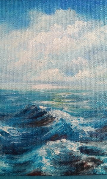 """Waves"" original fine art by Camille Morgan"
