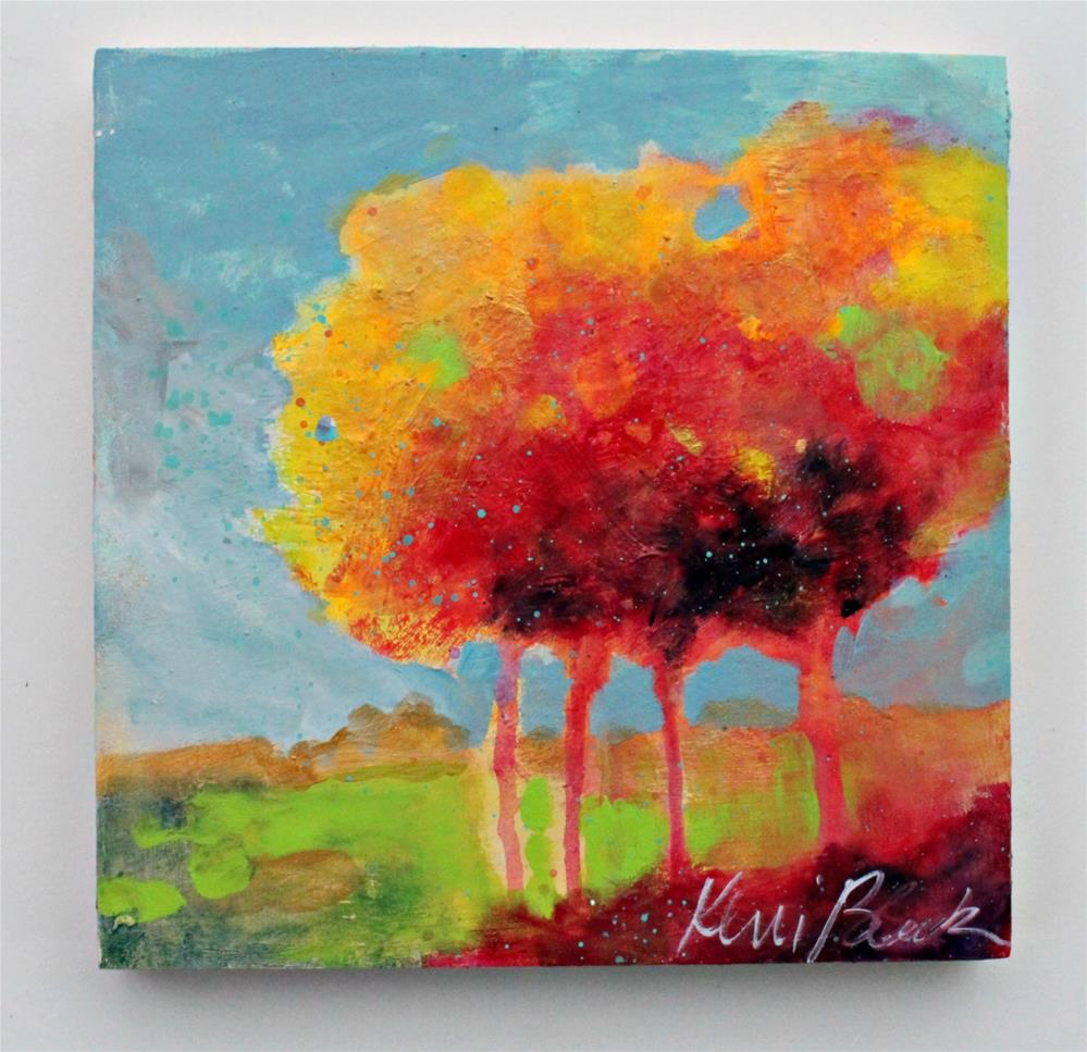"""Summer Trees "" original fine art by Kerri Blackman"