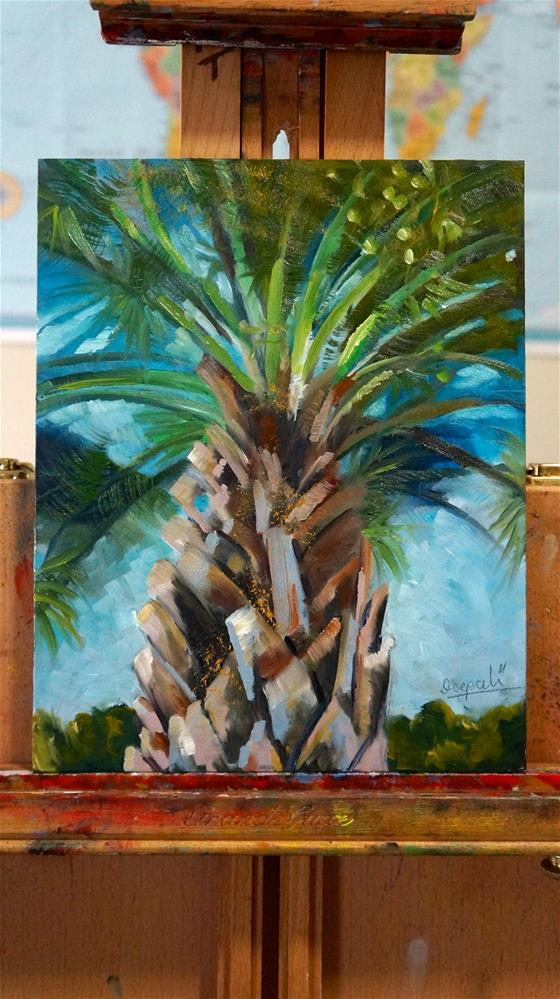 """Palm tree"" original fine art by Dipali Rabadiya"