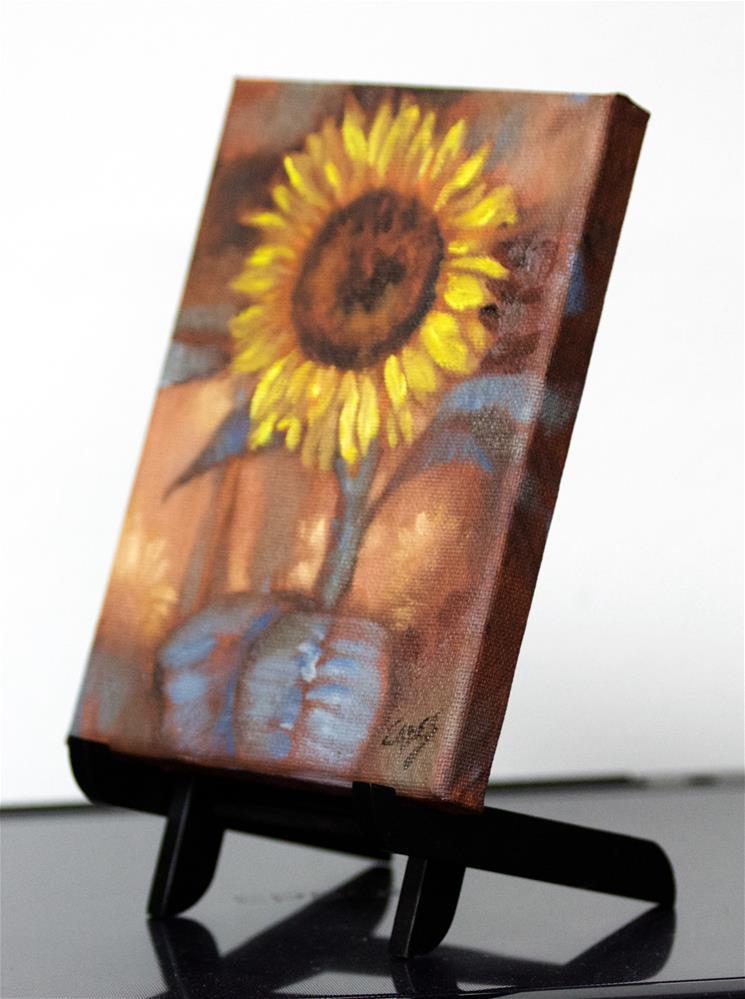 """Crazy Daisy"" original fine art by Linda Eades Blackburn"